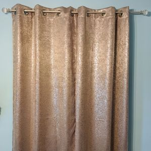 Metallic Silver Blackout Curtains